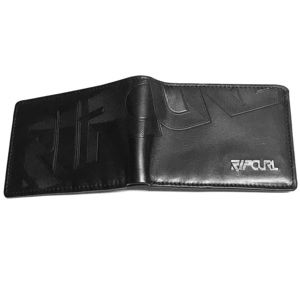 Rip curl Leather wallet - black sectioning